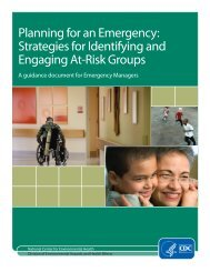 Planning for an Emergency Strategies for Identifying and Engaging At-Risk Groups