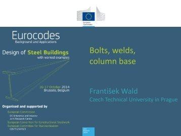 Bolts welds column base