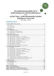 studieordningen for kemi - Det Natur- og Biovidenskabelige ...