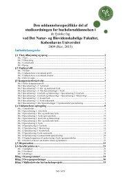 De fysiske fag - Det Natur- og Biovidenskabelige Fakultet