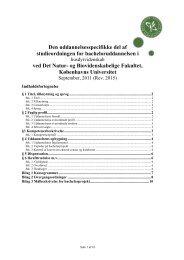 studieordningen for husdyrvidenskab - Det Natur- og ...