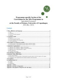 Programme-specific Section of the Curriculum for the MSc ...