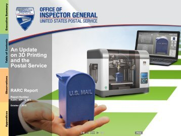 An Update on 3D Printing and the Postal Service