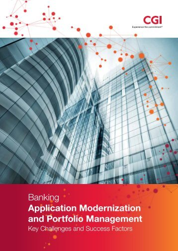 Banking Application Modernization and Portfolio Management