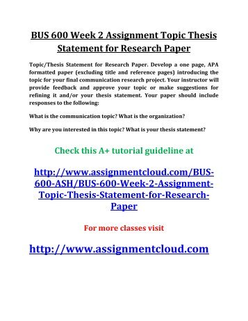 what should your thesis statement include