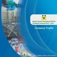 SPECTRUM PHARMATECH CONSULTANTS - COMPANY PROFILE