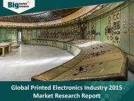 Printed Electronics Industry : Key Growth Factors, Trends,  Size, Demand and Opportunities