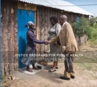 JUSTICE PROGRAMS FOR PUBLIC HEALTH A GOOD PRACTICE GUIDE