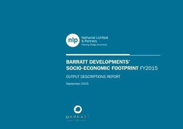 BARRATT DEVELOPMENTS' SOCIO-ECONOMIC FOOTPRINT FY2015