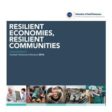 Resilient Economies Resilient Communities