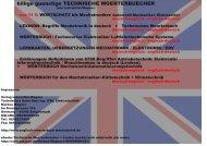 Hammer-Preise: Technik uebersetzen/ Mechatronik verstehen/ technisches englisch