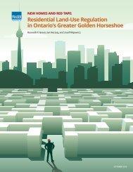 Residential Land-Use Regulation in Ontario's Greater Golden Horseshoe