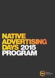 DAYS 2015 PROGRAM