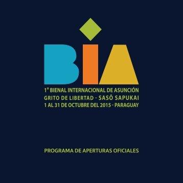 PROGRAMA DE APERTURAS OFICIALES