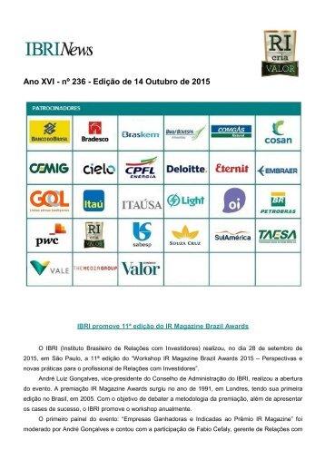 Ano XVI - nº 236 - Edição de 14 Outubro de 2015