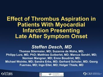 Patients With Myocardial Infarction Presenting Late After Symptom Onset
