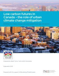 Low carbon futures in Canada – the role of urban climate change mitigation