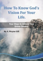 How To Know God's Vision For Your Life