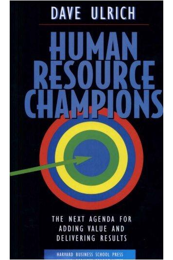 Human Resource Champions - David Ulrich