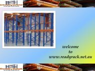 Double-Deep Pallet Racking Melbourne