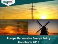 Europe Renewable Energy Policy Handbook 2015   – Trends, Opportunities, Segmentation and Forecast