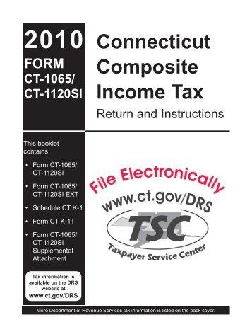2010 form ct-1065/ ct-1120si ct. Gov.