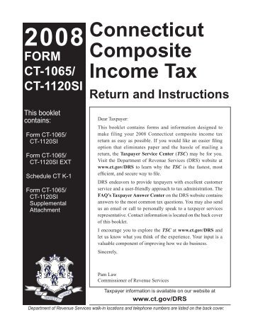 2011 form ct-1065/ ct-1120si ct. Gov.