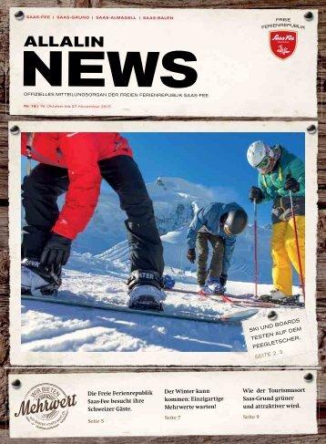 Allalin News Nr. 16 - SAAS-FEE   SAAS-GRUND   SAAS-ALMAGELL   SAAS-BALEN