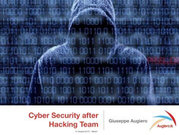 Cyber Security after Hacking Team