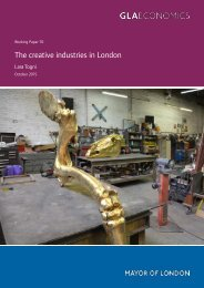 The creative industries in London