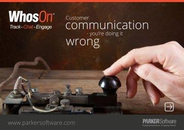 communication wrong