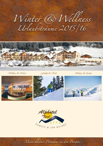 Alphotel Tyrol Winterpreisliste 2015/16