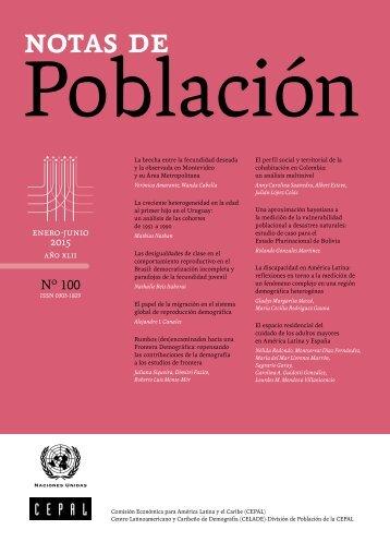 Notas de población N° 100