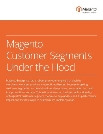 Magento Customer Segments Under the Hood