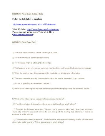 business communication 275 answer to final exam May 2011 pilot examination basics of business communication 1 examination answer book may 2011 pilot examination basics of business communication 1 (bbc1.