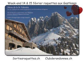 Week-end en raquettes aux Gastlosen Clubderandonnee.ch