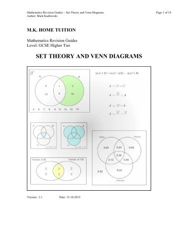 Mgf 1106 Section 2 3 Venn Diagrams And Set Operations