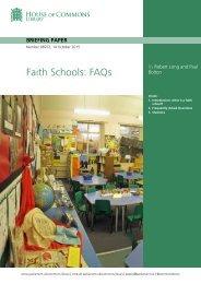 Faith Schools FAQs