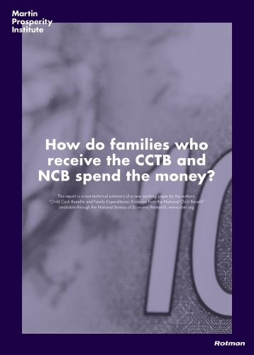 How do families who receive the CCTB and NCB spend the money?