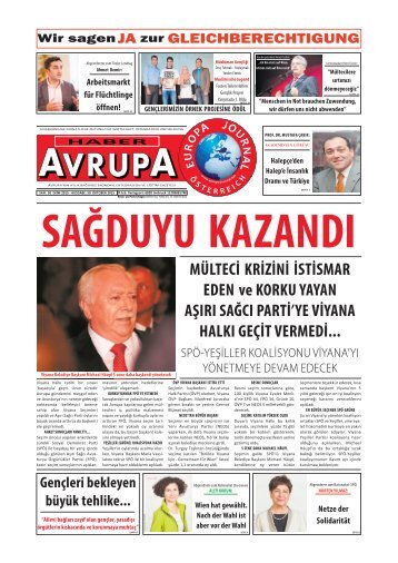 EUROPA JOURNAL - HABER AVRUPA OKTOBER 2015