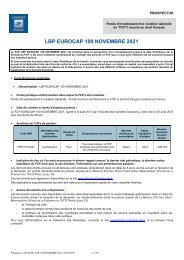 LBP EUROCAP 100 NOVEMBRE 2021
