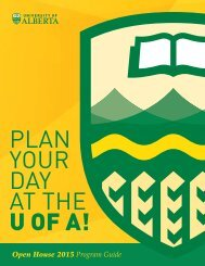 PLAN YOUR DAY AT THE U OF A!