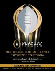 YOUR COLLEGE FOOTBALL PLAYOFF EXPERIENCE STARTS NOW
