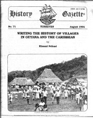 Writing The History Of Villages In Guyana And The Caribbean by Kimani Nehusi.
