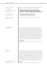 Technik, Methode, Indikationen - Vetline