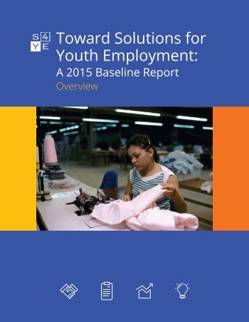 Toward Solutions for Youth Employment