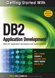 Getting Started with DB2 Application Development