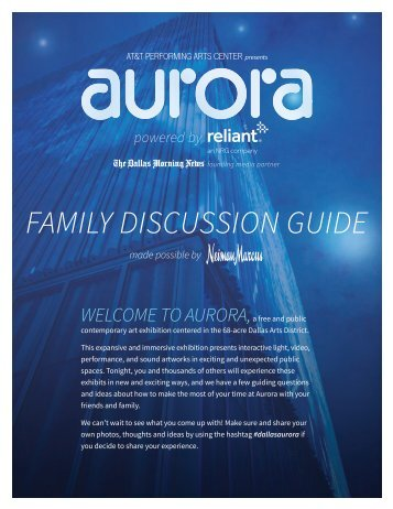 FAMILY DISCUSSION GUIDE