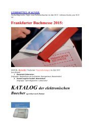 Frankfurter Buchmesse: ebook- Bestseller/ Neuerscheinungen aus Bau-Technik/ Kfz/ Elektro-Berufe/ It-Berufe Sport-Fussball (de-englisch Mechatronik-Woerterbuch uebersetzen)