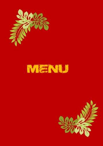 Inn the Village menu